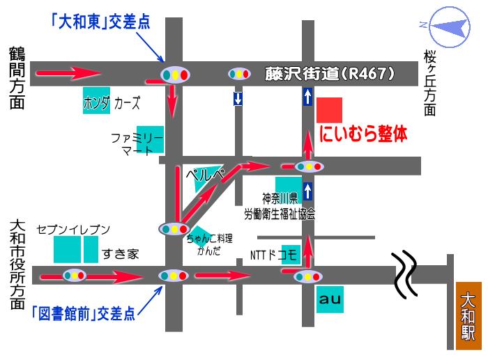 東名高速方面からの地図